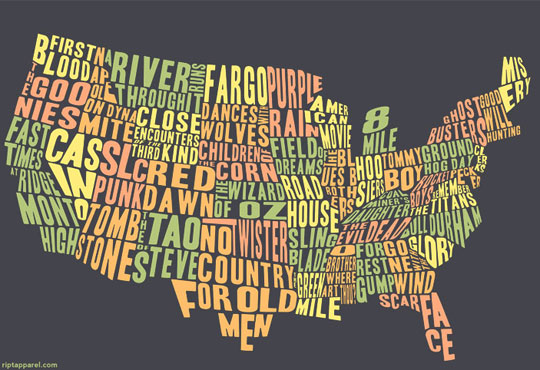 If A Movie Fan Or Critic Were To Break Apart The U S By Movies I D Imagine This Is How The United States Would Look To Them