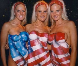 Dahm Triplets- American Flag Body Paint