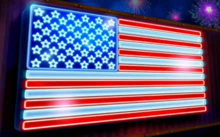American Flag neon