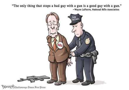 Wayne-Lapierre Good Guy Bad Guy Gun NRA