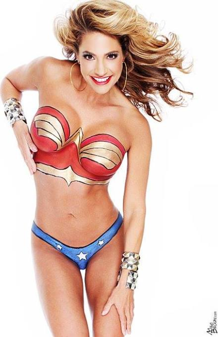 Merican Babe of the Day - Wonder Woman (Body Paint Edition)