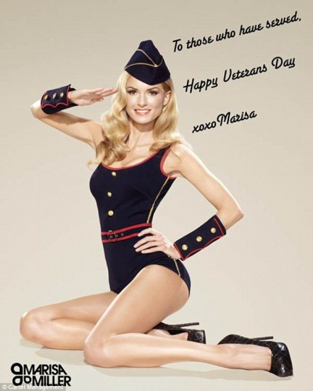 Merican Babe of the Day - Veteran's Day Pin Up - Marisa Miller